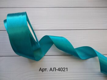 Атласная лента аквамарин