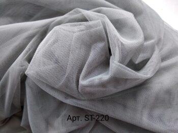 Стрейч фатин серый