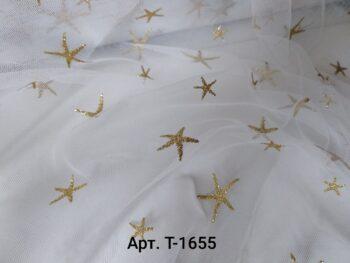 Фатин со Звездами Белый