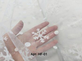 Фатин со снежинками
