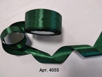 Атласная лента темно-зеленая