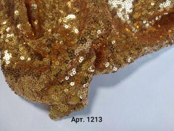 Пайетки на сетке Золото