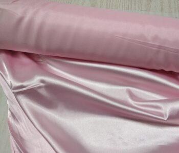 Атлас стрейч светло розовый