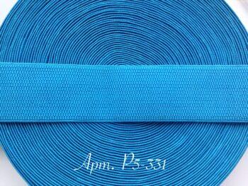 Резинка для пояса 5 см голубая