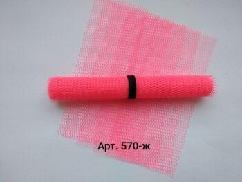 Фатин жесткий Розовый неон