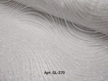 Фатин с блестками с глиттером волна белый
