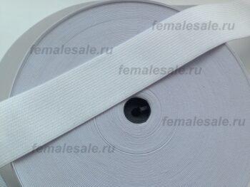 Резинка для пояса 4 см белая