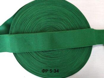 Резинка фактурная зеленая 5 см ширина