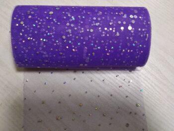 Фатин фиолетовый с блестками