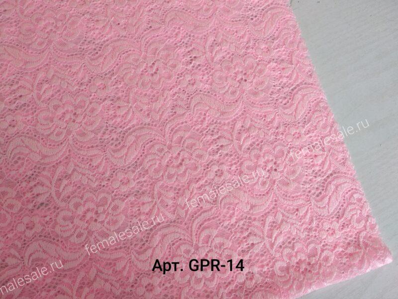 Гипюр розовый кружево