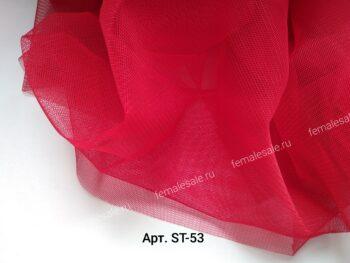 Стрейч фатин трикотажная сетка красный